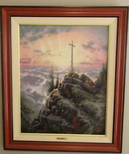 Thomas Kinkade SUNRISE 30x24 S/N 737 Signed  Limited Canvas Jesus Cross COA