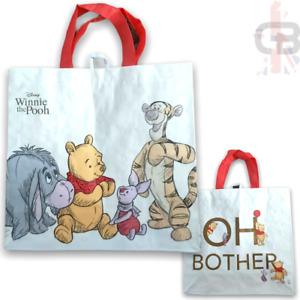 Winnie The Pooh Disney Reusable Medium Tote Shopping Bag Tigger Piglet Eeyore