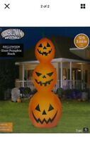 Halloween Gemmy 12 ft Giant Orange Pumpkin Stack Airblown Inflatable new In Box