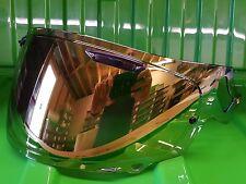 Arai Vas V Type Gold Mirror Visor RX-7V RX- 7X Corsair X Pinned for Max Vision