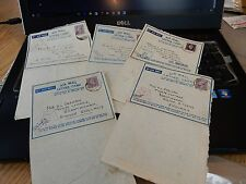 RAF WW2 DESERT CAMPAIGN LETTER FROM  F/O GEOFFREY WRIGHT 1941 & 42  LOT OF FIVE