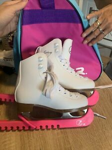 SFR Galaxy Ice Skates Size 11 - White With Bag