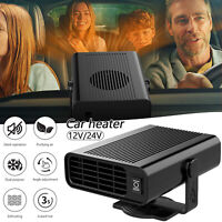 12/24V Portable Car Truck Heater Fan Cold/Hot Vehicle Heating Defroster Demister