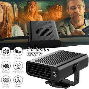 Portable Car Truck Vehicle Ceramic Heating Heater Fan Defroster Demister 12V/24V