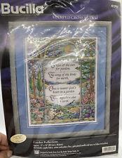 New ListingNew Bucilla Stamped Cross Stitch Kit - Garden Reflections - #41797 1997