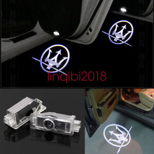 2x LED Logo Door Step Courtesy Laser Projector Light For Maserati Ghibli 2014-17