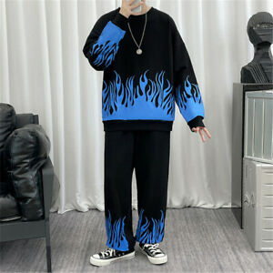 Mens Jogger Tracksuit 2 Piece Casual Pants Sweater Sweatsuit Sweatshirt Set