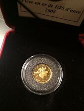 2004 Moose 1/25 Oz. - .9999 Fine Gold Proof 50 Cents Coin with Box & COA