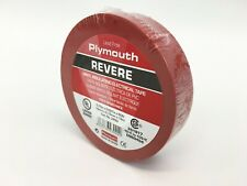 """Plymouth Rubber 3900 Revere Red 7 Mil Vinyl Electrical Tape 3/4"""" x 60' - Spain"""