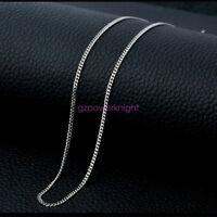 """NEW 925 Sterling Silver 16 18 20 22 24 """" inch Curb Chain Link Necklace 1.2mm"""