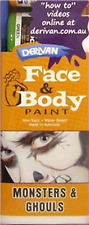 Derivan Face and Body Paint Monsters and Ghouls Set