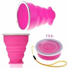 Collapsible Travel Coffee Mug Silicone Outdoor Camping Cup Folding Water Cup
