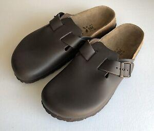 Betula Birkenstock Sz 41 265 L 10 M 7.5 Slip OnClog Brown Leather NEW