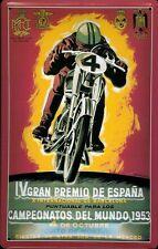 Chapa escudo motocicleta IV Gran Premio de España 1953 nostalgie escudo españa 20x30
