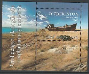 Uzbekistan 2016 Ships, Disaster of Aral Sea MNH Block