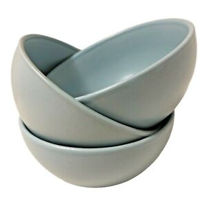 "Set of 3 ROYAL NORFOLK ROBIN EGG BLUE 5-1/2"" All Purpose Cereal Soup Bowl EUC"