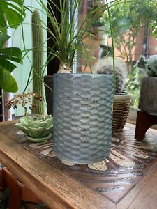 Large Indian Mercury Glass Tealight  - Teal Green
