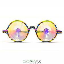 GloFX Tribal Kaleidoscope Glasses- Rainbow Halloween Costume Party Goggles