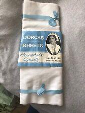 Vintage Dorcas white cotton sheets