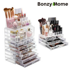 Acrylic Makeup Organizer Cosmetic Storage Case Jewelry Display Box Large 4 Pcs