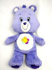 "CARE BEAR Plush Stuffed HARMONY Lavender Purple KELLYTOY Rainbow SUN 2015  18"""
