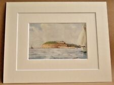 WEYMOUTH THE NOTHE VERY RARE ANTIQUE DOUBLE MOUNTED WATER COLOUR PRINT 1908 10X8