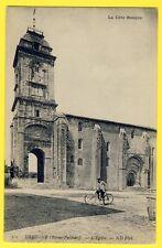 cpa France CÔTE BASQUE URRUGNE (Pyrénées Atlantiques) L'EGLISE St VINCENT Vélo