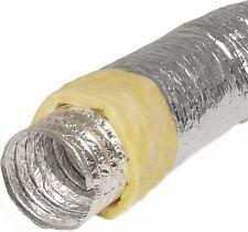 Alu-Flexschlauch 100mm isoliert 10m lang Alu-Flexrohr Lüftungsschlauch Aluminium