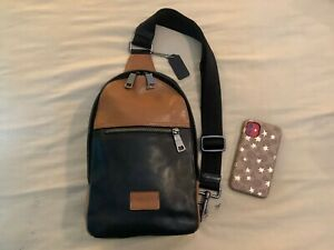 Like New no Tags Coach Campus Sling Pack in Sport Calf Leather SADDLE BLACK
