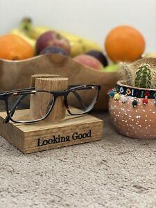 Solid Oak Glasses Sunglasses Display Stand Holder
