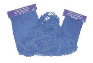 Fishing Net, Decorative Fishnet Blue, Cotton Net 39 3/8x78 11/16in