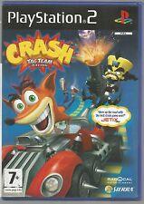 CRASH TAG TEAM RACING - UK PAL PLAYSTATION 2 PS2 GAME - with manual