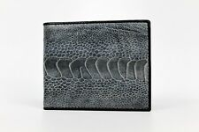 Genuine Ostrich Leg Wallet - Grey