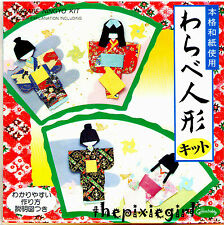 JAPANESE ORIGAMI PAPER DOLL NINGYO KIT 4 STYLES WITH ENGLISH INSTRUCTIONS