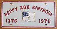 1976 HAPPY 200 BIRTHDAY BOOSTER License Plate