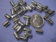 50 5x8mm Spacer Barrel Beads Pewter Silver Tone