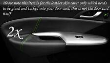 Verde Stitch encaja Honda Civic 06-12 2x Frontal Puerta Tarjeta Ribete Cuero cubre sólo