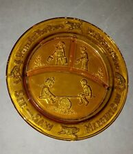 Tiara Amber Mother Goose Divided Dish Where are you going My pretty maid Plate