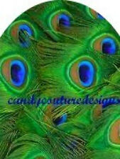 20 FULL NAIL COVER WATER SLIDE TRANSFERS PEACOCK FEATHERS Trending
