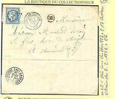 LETTRE DE CHATEAU VILLAIN POUR CHAUMONT DU 8.2.1876 + OR