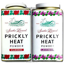 2 x PRICKLY HEAT COOLING POWDER CLASSIC & LAVENDER 150g. Relieve itchy & Refresh