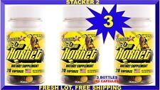 Stacker 2 Yellow Hornet Energy 20 Bottles (Lot 3 X) 60 Capsules 08/2018