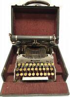 Antigua maquina de escribir plegable STANDARD FOLDING 2  rare TYPEWRITER 1910