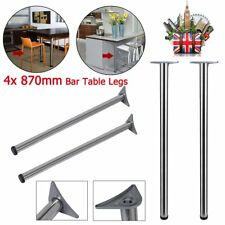 4X Adjustable Foot legs Breakfast Bar Worktop Support Table Kitchen Leg 870mm