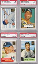 Complete Set 1996 Topps Mickey Mantle Reprint 1951 - 1969, PSA 9 and 10