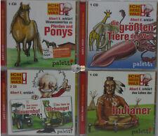 4 x Kinder Wissens Lehr/Lern Hörbuch Hörbücher CD Sammlung Ich weiss was!