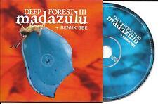 RARE CD CARTONNE CARDSLEEVE 2T DEEP FOREST III MADAZULU + REMIX BBE 1997