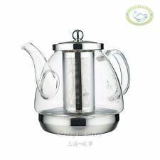 Kamjove A-120 Heat Resistant Glass Teapot Kettle Stainless Steel Infuser 1200ml