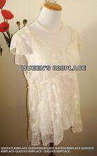 Adiva Women's Lace Floral Crochet Tunic Top Size XL Beige Ivory Boho 2 in 1 Tank