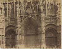 N. D. France, Rouen, la Cathédrale Vintage Albumen Print Tirage albuminé  21